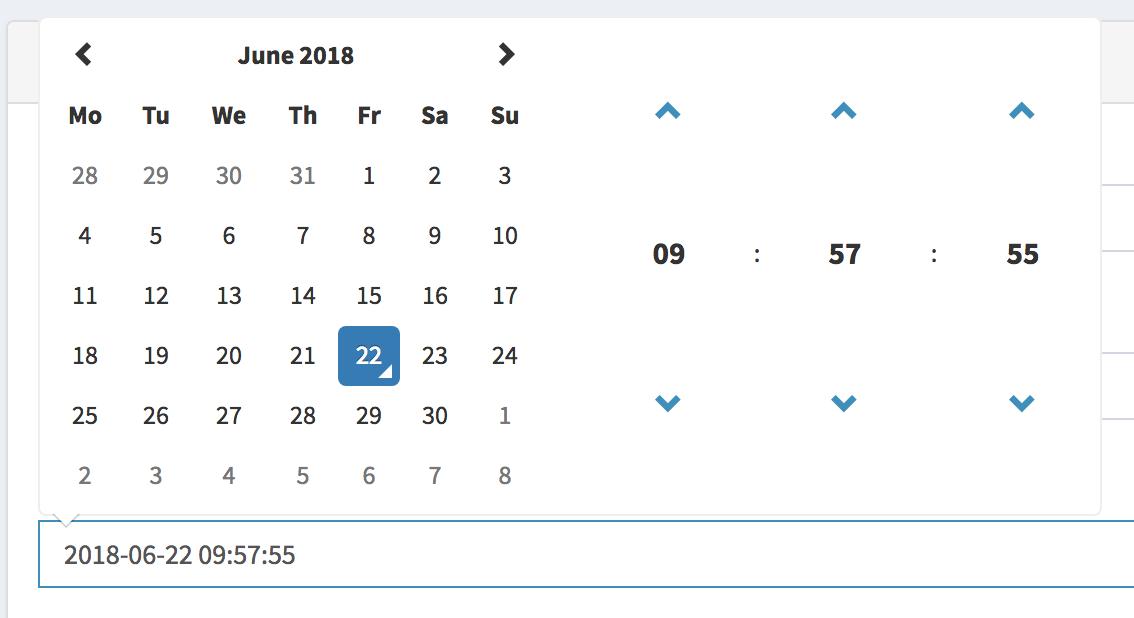Field Type Date Time Pickers - QuickAdminPanel com Docs